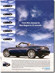 Playboy 2008 Mazda MX-5 advertisement