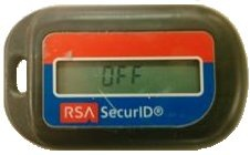 RSA SecurID token displaying OFF