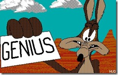Wile E Coyote Genius cartoon