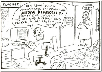 Blogger exclaims that he is part of the Australian Media Diversity