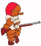 Elmer Fudd with shotgun