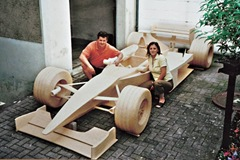 F1 car made out of 956000 matchsticks.