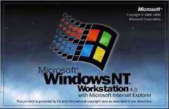 Windows NT4 Workstation 4 logon screen