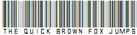 Barcode Font - The Quick Brown Fox Jumps