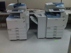 Lanier c2800 & c5000 colour photocopiers and printers