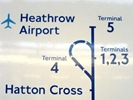 Heathrow Tube - Piccadilly T5 Extension sign
