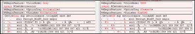 Postscript file differences