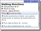 Google Maps - Collingwood to Flinders St - Directions