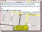 Google Maps - Collingwood to Flinders St - Map path
