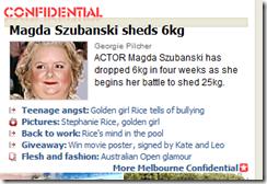 Magda Szubanski sheds 6kg