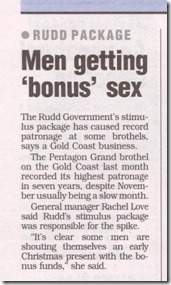 Spend It At Scores - Brisbane MX - December 2008.  Men getting 'bonus' sex.