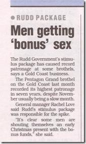 Spend It At Scores - Brisbane MX - December 2008.  Men getting 'bonus' sex.
