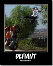 Defiant - Lesson learnt