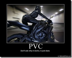 PVC.  Don't ask why it works, it just does.