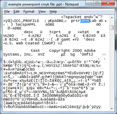 cmyk in a powerpoint file