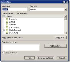 Lotus Notes Create View Option