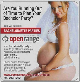 OpenRange Shooting Range Bachelor/ette Parties advertisement.
