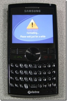 Samsung BlackJack II - Device Erase