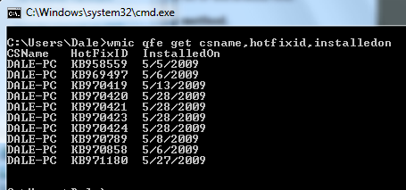 Wmic output format csv