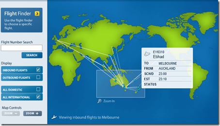 melbourne airport live flight radar