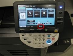 Konica Minolta C652 Control Panel