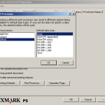 Lexmark print driver showing WinPrint processor selected
