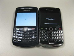 BlackBerry 8300 side-by-side BlackBerry 9700