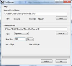 VhdResizer -enter the size of the disk you want to resize to.  Not greater than 127.5GB though.