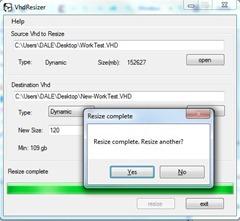 VhdReziser - Processing complete