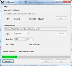 VhdResizer - resizing the VHD file