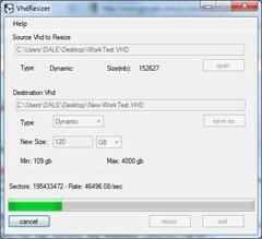 VhdResizer - resizing the VHD file