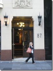 87 Collins Street - and another example.  87 Collins St is a shoe shop.  Why am I not surprised...
