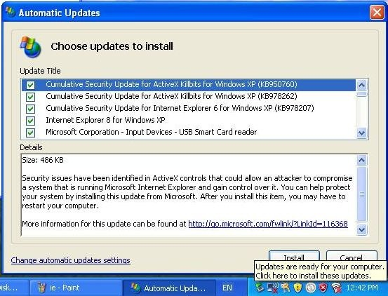 how to set microsoft automatic updates
