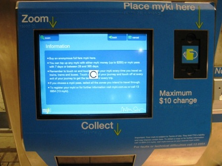 Today's Myki failure? Try and recharge your Myki card ...