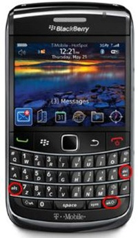 BlackBerry Reset Keys