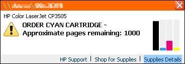 HP Printer Status Notification Pop-up messages | wisefaq com