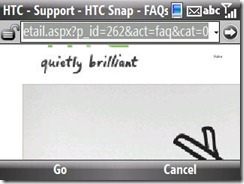 HTC Snap - FAQ site