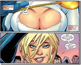 Power Girl's cleavage from Justice Society of America Classifed #1