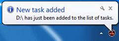 Eraser - New Task added