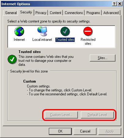 Internet Explorer Security Tab Restrictions | wisefaq com