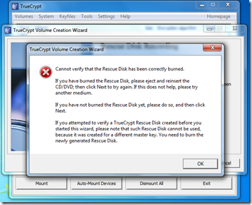 Truecrypt - Full Disk Encryption - ISO check
