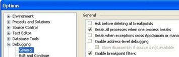 Break all processes when one process breaks - VS 2008