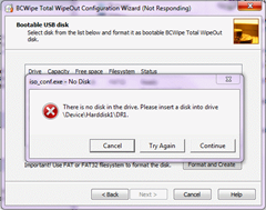BCWipe Total WipeOut Configuration Wizard
