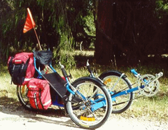 Swift Touring Recumbent Tricycle - thanks to Ms Rebecca for making it possible.