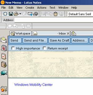 Creating a web link in Lotus Notes - Step 3