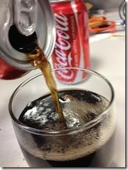 Coke pouring