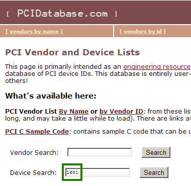 PCIDatabase_Search