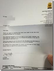 Nikki Car Letter
