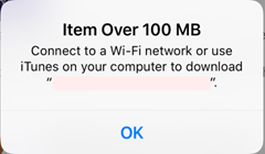 Connect to a Wi-Fi network or use iTunes on your computer to download.