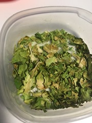 Brussels sprout leaves - chopped